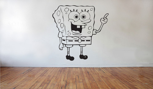 Spongebob 1 wall stickers decals newcastle under lyme vinyl house u k