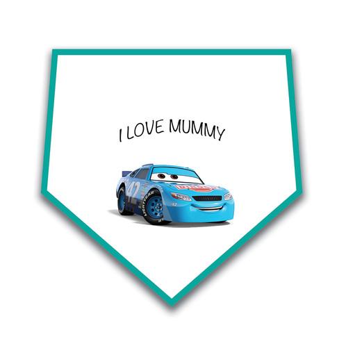 I love mummy cars 3 miss fritter baby bib