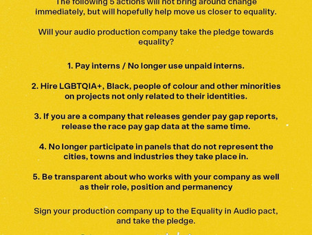 Equality in audio