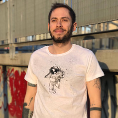 Asztronauta póló tote bag, astronaut t-shirt