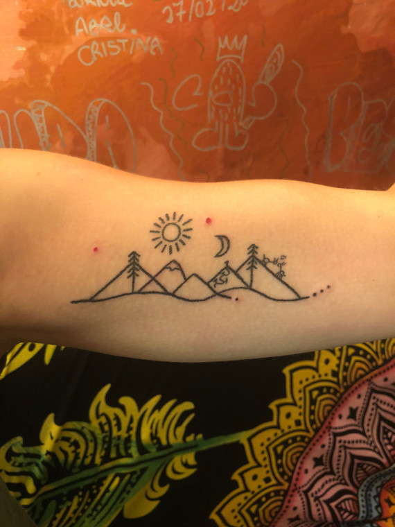 Mountain staywild handpoke