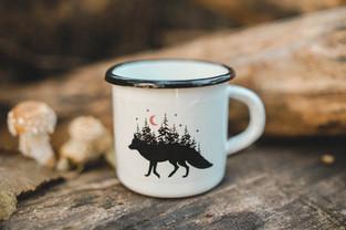 Fox pine forest mug