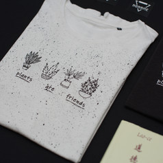 Plants are friends póló, t-shirt, tote bag