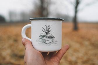 Plant book mug