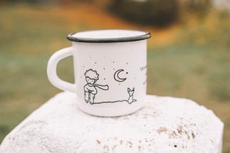 Little Prince Moon mug (idézetes)