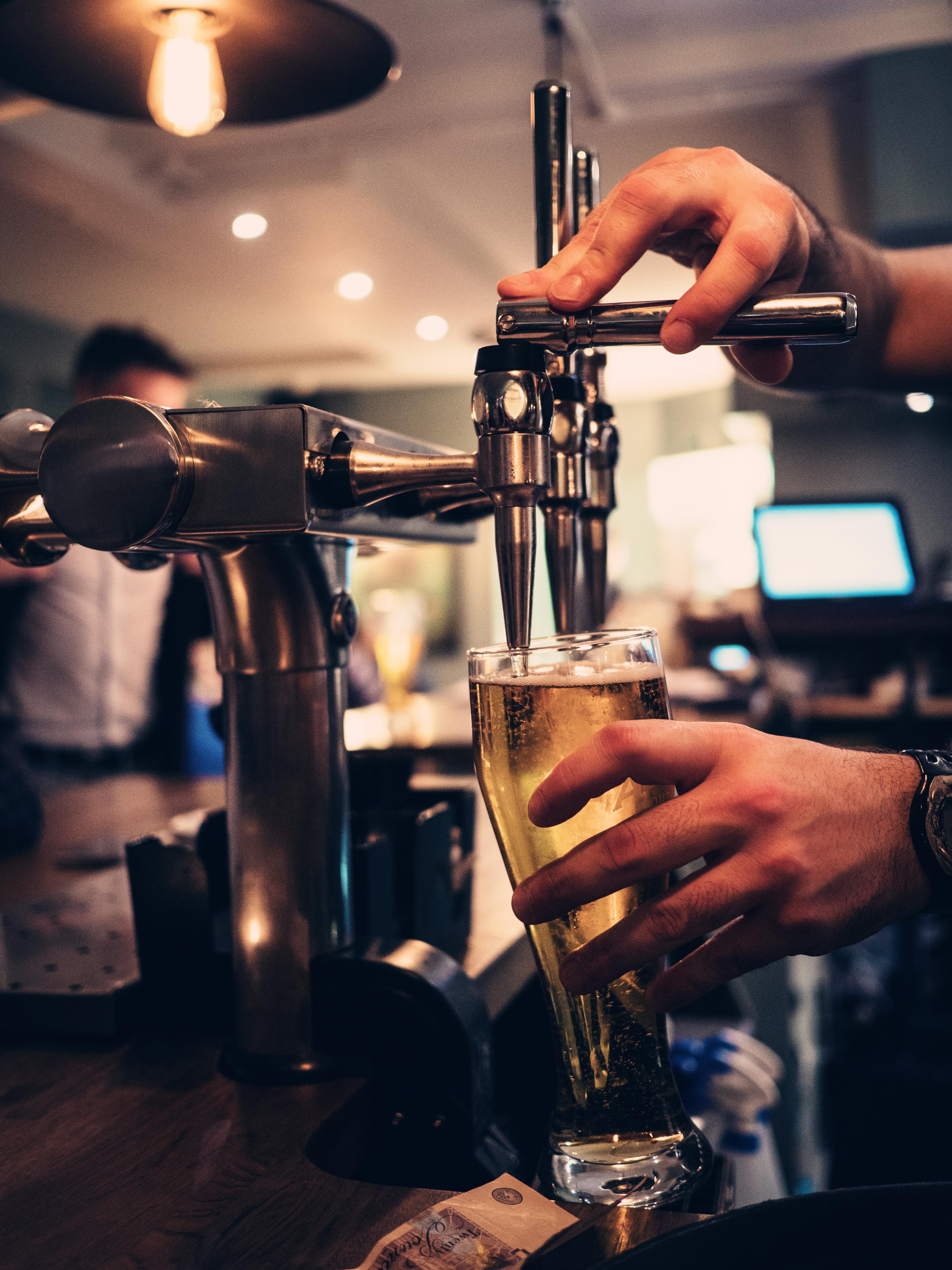 Blue Jo's Beer Pour