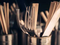 Blue Jo's Cutlery Close up