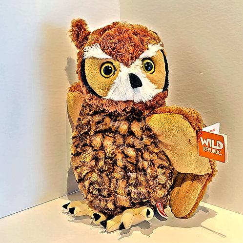"12"" Great Horned Owl Stuffed Animal"