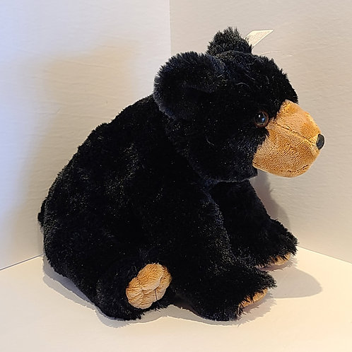 "8"" Mini Black Bear Stuffed Animal"
