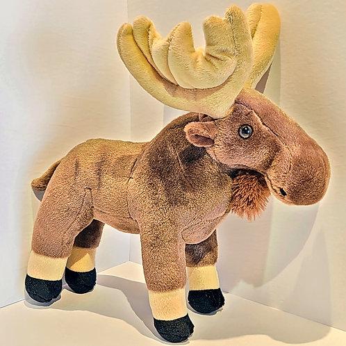 "12""Large Moose Stuffed Animal"