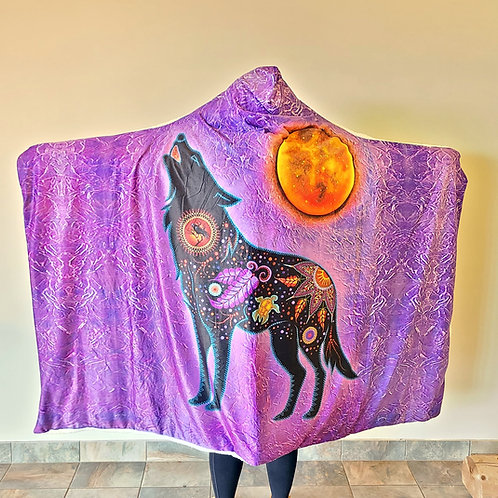 Fire Within Youth Hoodie Blankets by Tracey Metallic