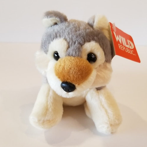 "5"" Wolf Cub Stuffed Animal"