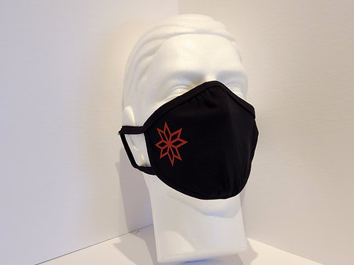 Red 8-Point Star Mask
