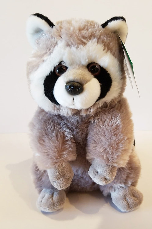 "12"" Raccoon Stuffed Animal"