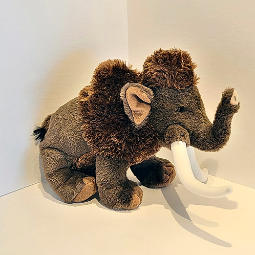 "12"" Wooly Mammoth Stuffed Animal"