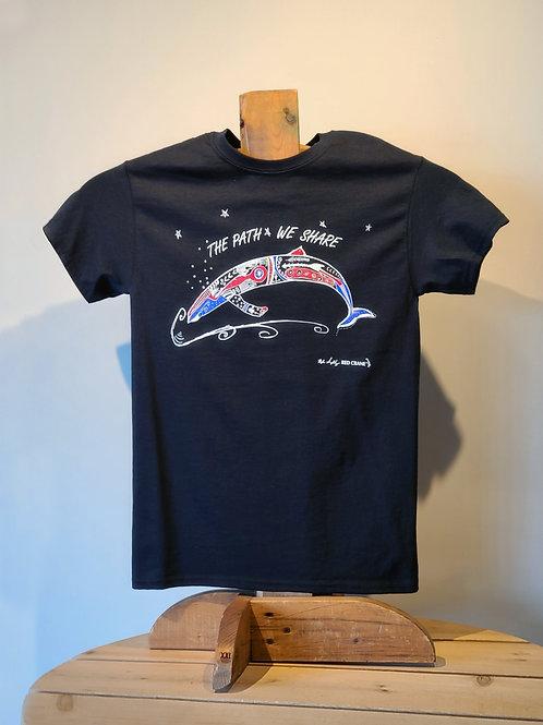 Whale T-Shirt by Alan Syliboy