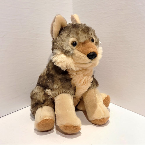 "8"" Mini Wolf Stuffed Animal"