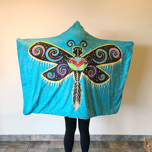 Her Spirit Hoodie Blanket by Tracey Metallic