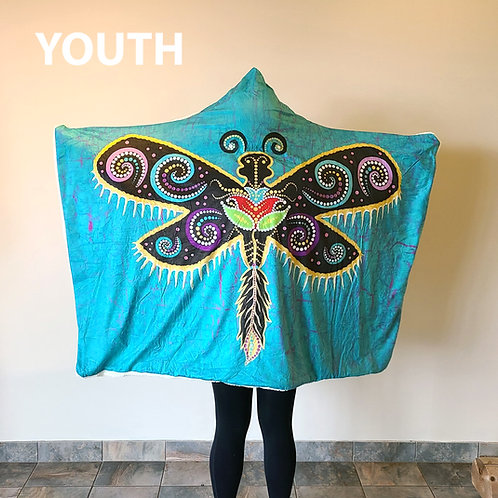Her Spirit Youth Hoodie Blanket by Tracey Metallic