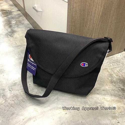 Champion Color Tape Logo Shoulder Bag - Black