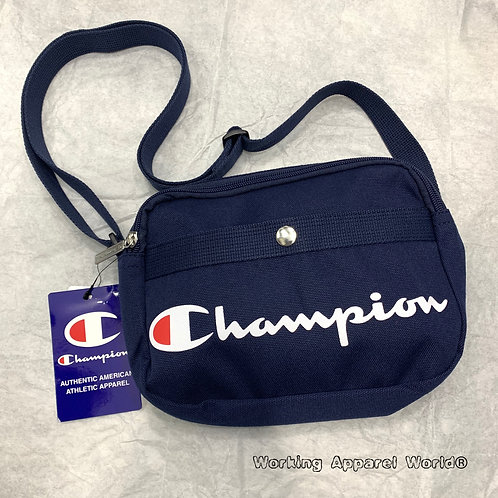 日版 Champion Text Print Logo Mini Shoulder Bag - Navy