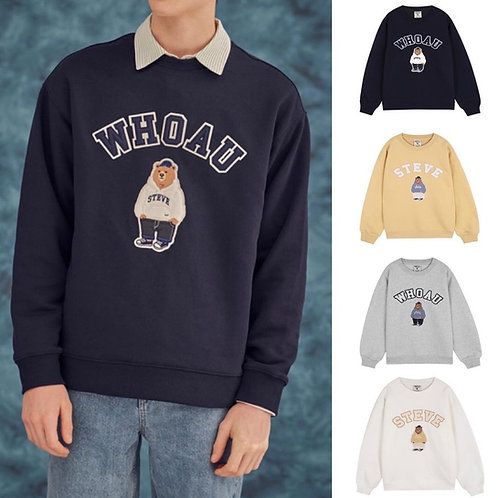 ●預訂貨品● Who.A.U. Emb. Big Logo Bear Sweatshirt