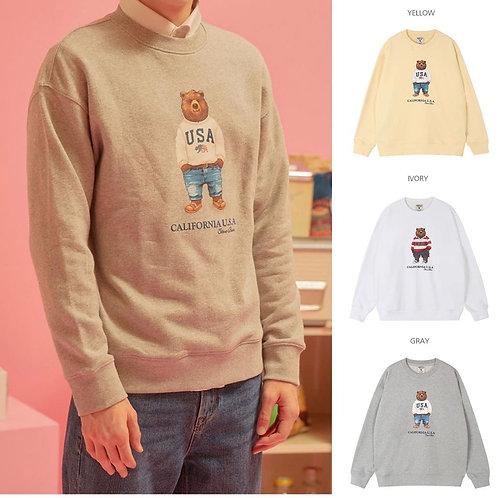 ●預訂貨品● Who.A.U. Bear Logo Sweatshirt