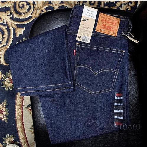 Levis 505 Regular Fit Straight - Rigid Denim Blue