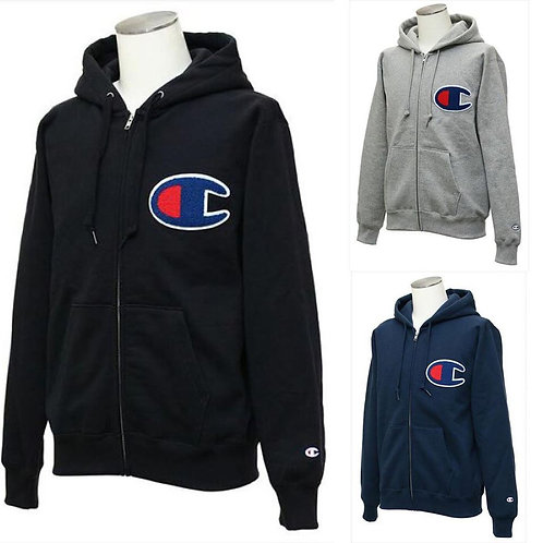 ●預訂貨品● 日版 Champion Embroidery Big C Logo Zip-up Hoodie