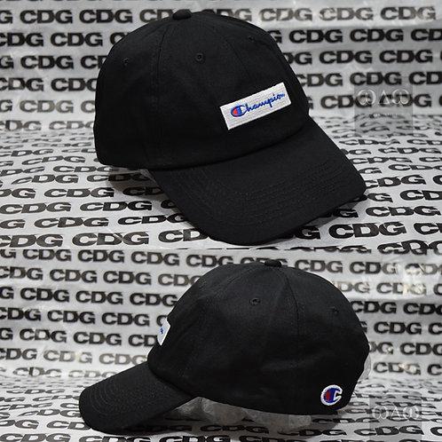 日版Champion 刺繡 OG Box Logo Dad Cap - Black