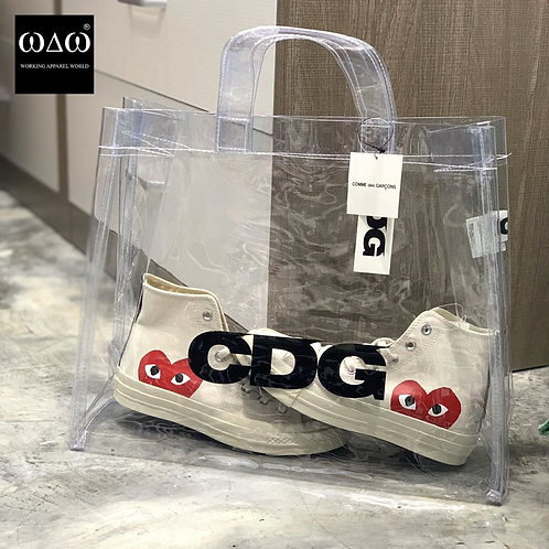 COMME DES GARÇONS CDG Design PVC Tote - Transparent