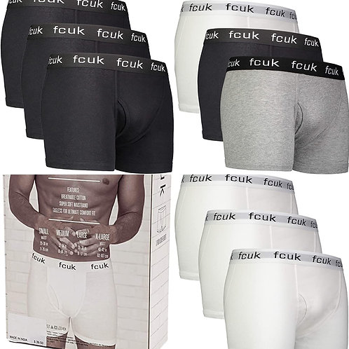 ●預訂貨品● Fcuk Men's Cotton 彈性 Boxer Brief 3件裝