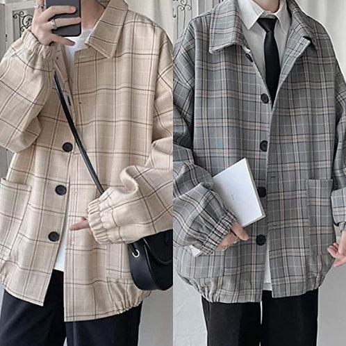 ●預訂貨品● 日本品牌🇯🇵Loose Drop Shoulder Checked Jacket