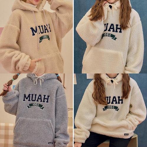 ●預訂貨品● 韓國品牌 Muahmuah 20FW Buchline Fleece Anorak