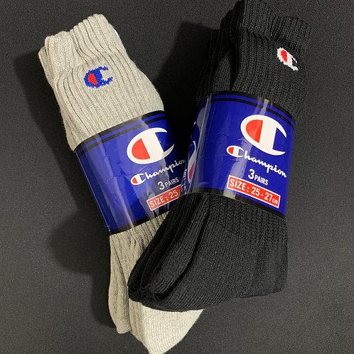日版 Champion Long Socks 長襪 1Pack (3 pairs)