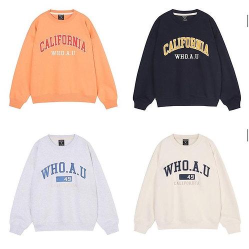 ●預訂貨品● Who.A.U. California Logo Sweatshirt