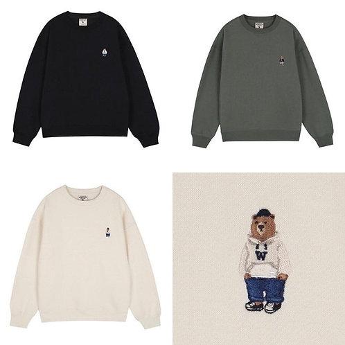 ●預訂貨品● Who.A.U. Emb. Small Logo Sweatshirt