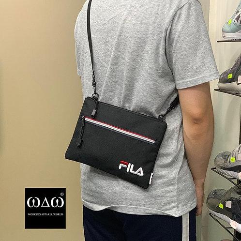 日版 Fila 2 Way Zip Pocket Shoulder Bag - Black