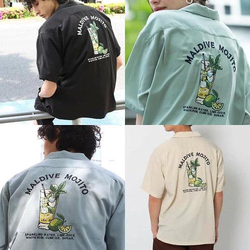 ●預訂貨品● 日本品牌🇯🇵Big Silhouette Back Emb. Open collar S/S Shirt