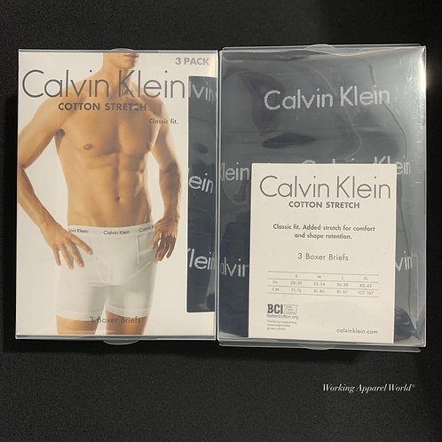 Calvin Klein Men's Cotton 彈性 Boxer Brief 3件裝
