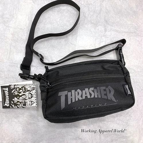 日版 Thrasher 2 Way Zip Pocket Shoulder Bag - Black-Black