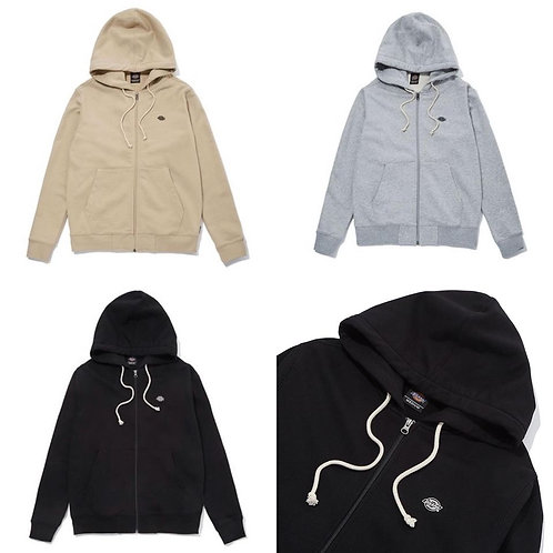 ●預訂貨品● Dickies Basic Small Logo Zip up Hoodie