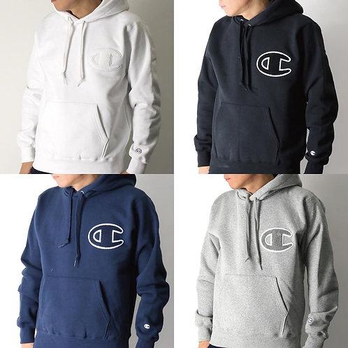 ●預訂貨品● 日版 Champion Embroidery Big C Text Logo Hoodie