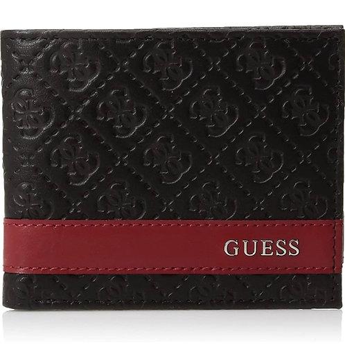●預訂貨品● Guess Stripe Logo Leather Bifold Wallet