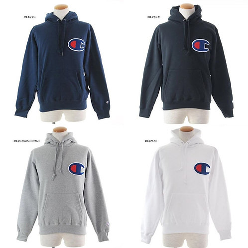 ●預訂貨品● 日版 Champion Embroidery Big C Logo Hoodie