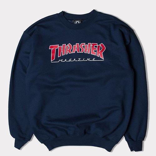 Thrasher Skate Mag Logo Sweatshirt - Black