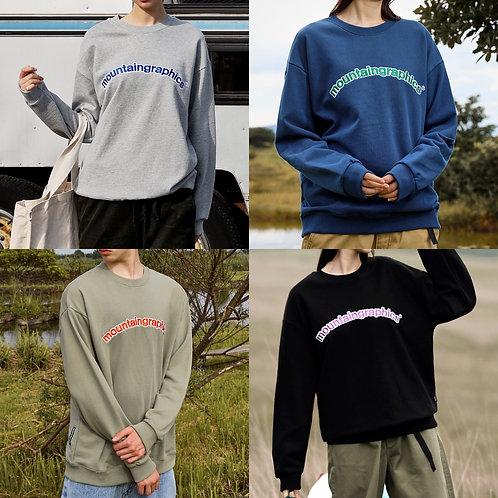 ●預訂貨品● 韓國品牌🇰🇷 Fluke Adventure Logo Overfit Sweatshirt