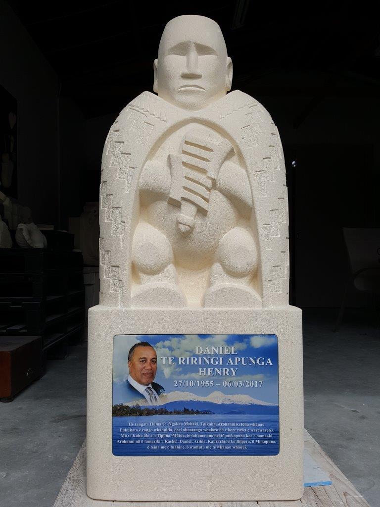 Poutama Korowai memorial headstone