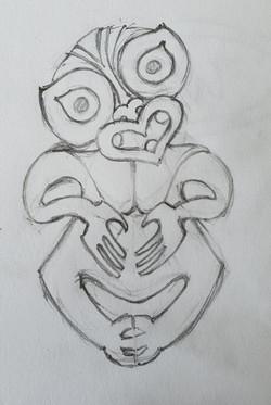 Keno sculpture sketch