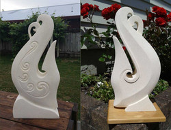 Manaia/Hei Matau Sculpture